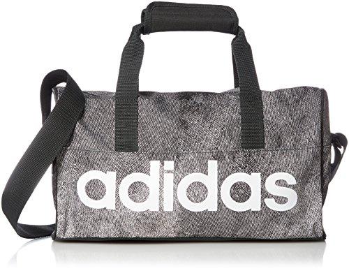 Adidas Unisex-Erwachsene LIN PER DUF XS Sporttasche, Grau (Pertiz/Negro/Blanco), 24x15x45 Centimeters