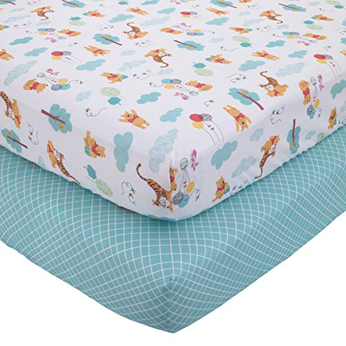 Disney Winnie the Pooh First Best Friends 2 Piece Fitted Crib Sheets,...