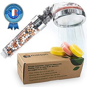 Aecodune Alcachofa Ducha con Filtro Vitamina C - Belleza Superior - Filtro Ducha Antical - Esencias Naturales - Reduce de 99% Cloro y más