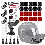 WLPREOE 37 in 1 Motorcycle Riding Helmet Chin Mount Kit for Vlog POV for GoPro Hero 8 7 and Other Action Camera