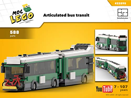 Articulated bus transit (Instruction Only): MOC LEGO (English Edition)
