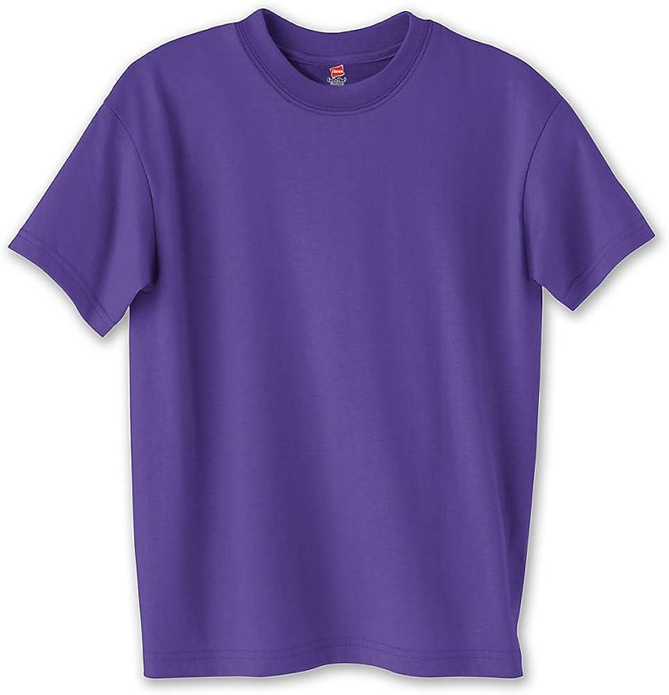 Hanes Youth Comfortblend Ecosmart Tee (Purple) (M)