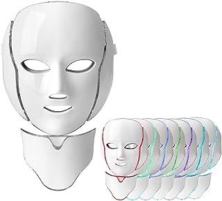 Therapie Masker, 7 Kleuren Led P hoton Gezichtsmasker Machine Nek Schoonheid Led Masker Proactieve Huidverzorging Acne Ki...