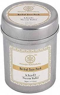 Khadi Natural Neem-Tulsi Face Pack, 50 Gm (Set of 2) by KHADI