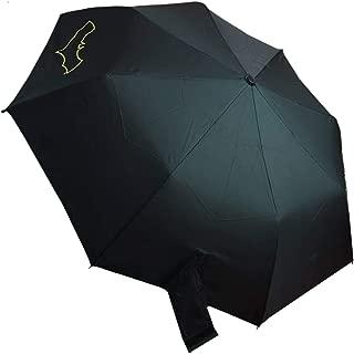 Batman Grappling Hook Umbrella | Solid Batman Logo Hook Handle | Easy Grip | Black