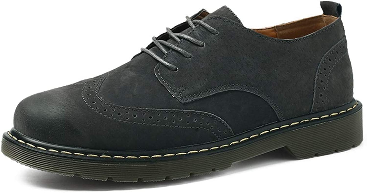 SRY-Fashion shoes Men's Fashion Oxford Casual Classical Carving Lace Up Faux Fleece Inside Brogue shoes(Ceremonious Optional) Comfortable Casual shoes