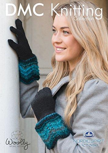 Handschoenen met decoratieve manchet breipatroon