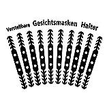 D Shape 10 Stück Ohrhaken für Maske Maskenhaken Masken Ohrband 4 Einstellungen Verlängerung für Maske Ohrenriemen für Unisex (Schwarz)