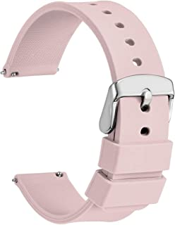 Silicone Watch Bands - Quick Release Soft Rubber Replacement Straps (14mm 18mm 20mm 22mm 24mm)