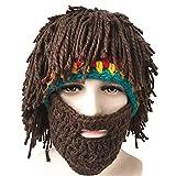 FIIDO Peluca creativa hecha a mano para barba, peluca hecha a mano, para adultos, niños, ganchillo, extraíble, bigote, peluca para cosplay, accesorios para decoración de fiesta de Halloween, adultos