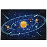 Oarencol Solar System Planets Jigsaw Puzzle 1000 Pieces Educational Space...