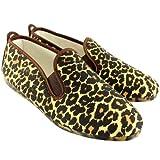 Mujer Kung-Fu Flossy Ezcaray Leopard Print Resbalón En Alpargata Zapato - Leopardo - 36