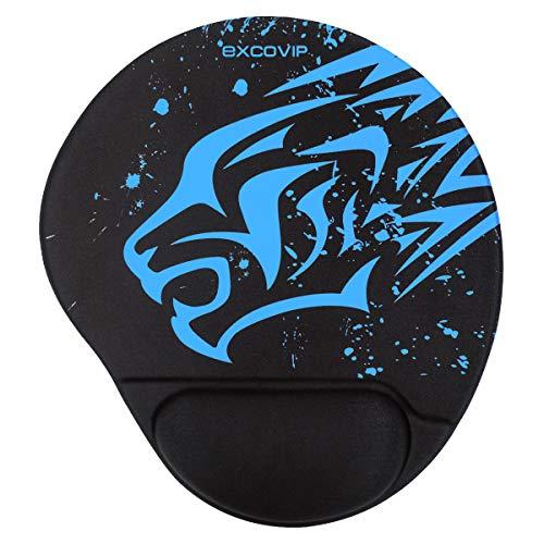 EXCOVIP-Matte mit Silikongel-Handballenauflage, blau-schwarzer Panther