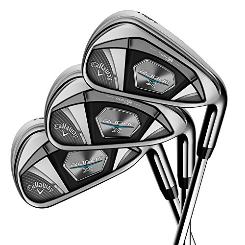 Callaway Golf 2018 Men's Rogue X Irons Set (Set of 7 Total Clubs: 4-PW, Right Hand, Steel, Regular Flex)
