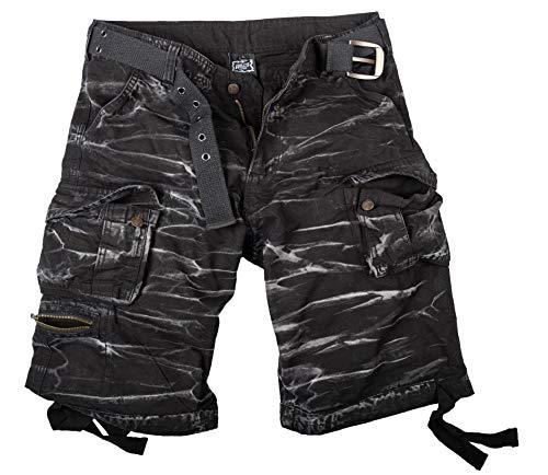 Halle 15 Ultra Cargo Shorts Black Stripes Vintage Shorts S Bis 5XL (3XL)