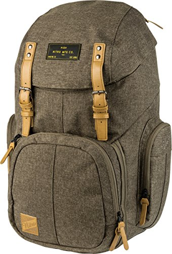 Weekender Alltagsrucksack mit gepolstertem Laptopfach, Schulrucksack, Wanderrucksack  inkl. Nassfach, 42 L, Burnt Olive