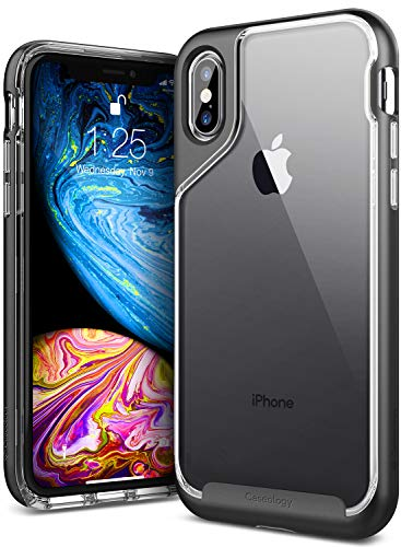 Caseology Skyfall for Apple iPhone Xs Case (2018) and iPhone X Case (2017) - Soft Stone