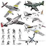Viikondo 6Piece/Set USAF Aircraft Model World War II 1/48 Mustang Fighter Model P-51 Simulation Military Ornaments&Colorful Planes DIY Military Toys Gift