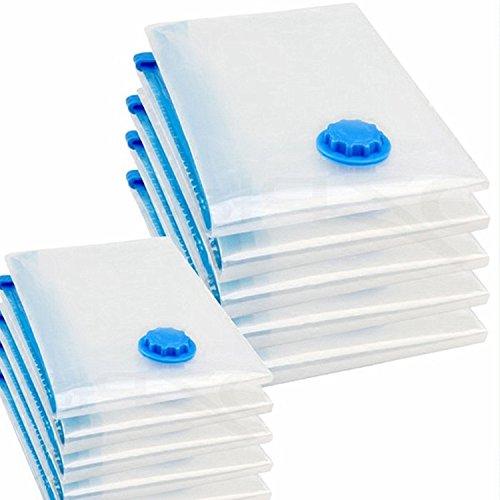 logei® 6 uds bolsa de almacenamiento de bolsa de la aspiradora de vacío para ropa de cama y prendas de vestir, ahorro de espacio en la bolsa de ropa, 80 x 100 cm
