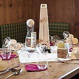 Zirben Familie das Original Wasserkaraffe • 1l Set mit natürlicher Zirbenkugel • Kristallglaskaraffe und Holzkugel aus edlem ZirbenHolz • Natur Gravur - 11