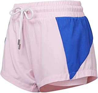 Sports Shorts Women Spring and Summer Loose Breathable Running Pants Fitness Yoga Pants,Light Pink,L