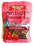 Mariani Probiotic Dried Cranberries - One 6 oz Package of Sweetened Cranberries - Supports Immune and Digestive Health