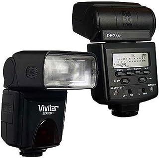Vivitar Blitzgerät für Olympus SLR/DSLR Kamera, Schwarz (DF383OLY)