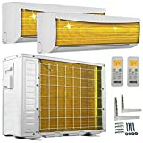 A++/A++ DuoSplit Golden-Fin 3,5 + 3,5 kW 12000+12000 BTU MultiSplit Klimaanlage INVERTER Klimagerät und Heizung WiFi/WLAN-Ready