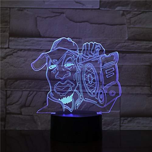 Paris Touch Farbe visuelle Grafiken Nachtlicht Kinder Tischlampe Geschenk Geschenk Dekoration Lampe