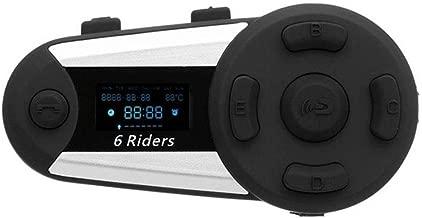 WYYHAA T20S 1200M Motorcycle Bluetooth Intercom/ IP65 Waterproof Motorcycle Helmet Bluetooth Interphone Full-Duplex Intercom Bluetooth Headset with FM Radio