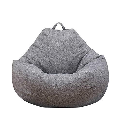 FlowersSea Sitzsack Abdeckung Faule Sofa Abdeckung Bean Bag Cover Puff Wohnzimmer Couch Decke Jugendliche und Erwachsene, Schwarzgrau, M