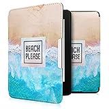 kwmobile 対応: Amazon Kindle Paperwhite ケース - 電子書籍カバー PUレザー - オートスリープ Reader 保護 Beach Pleaseデザイン