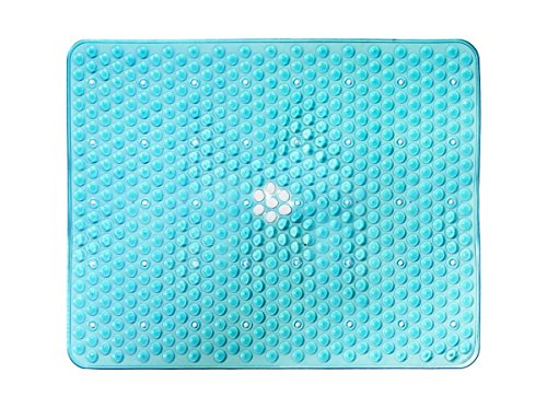 Attraction Design PVC Sink Mat Pad ECO-Friendly Kitchen Sink Protector Mat, Rectangle, 12''X15'' (Turquoise)