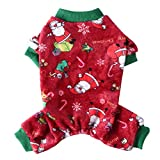 Poseca Suéter de Navidad para Perros Pijamas para Perros Mono para Perros Disfraz de Navidad para Perros Pijamas para Cachorros Ropa de Chihuahua Pijamas para Mascotas para Perros pequeños y Gatos
