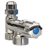 Geräte-Ventil Eckfix | Zusatzventil | Gerätezusatzventil | Eckventil | Chrom
