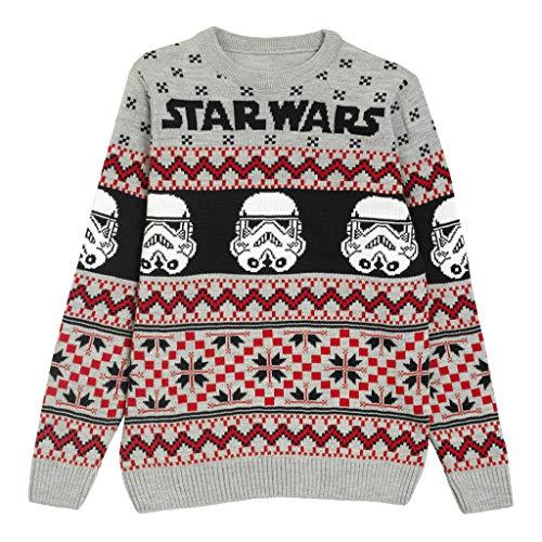 Star Wars Stormtroopers Natale Knitted Jumper Uomo Multicolore XS | Idea Natale Jumper Regalo di Natale di Isola Ugly Sweater Fiera