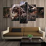 Decorazioni per la casa Immagine su tela modulare 5 pezzi Warhammer 40,000: Dawn Of War Iii Gioco Pittura Poster da parete per la casa(size 2)