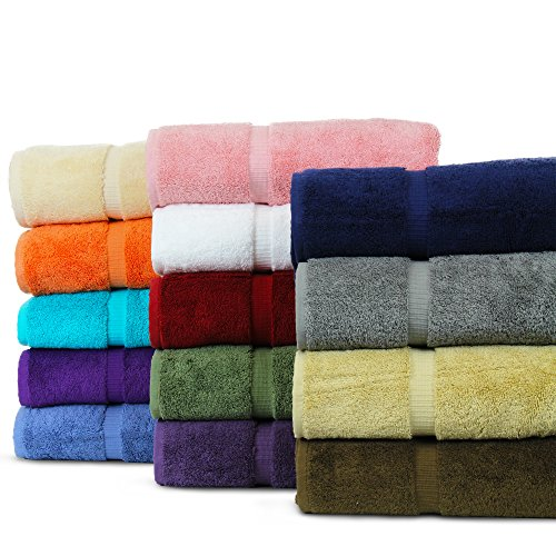 BC BARE COTTON Luxury Hotel & Spa Towel Turkish Cotton Washcloths - Mix Color - Dobby Border - Set of 12
