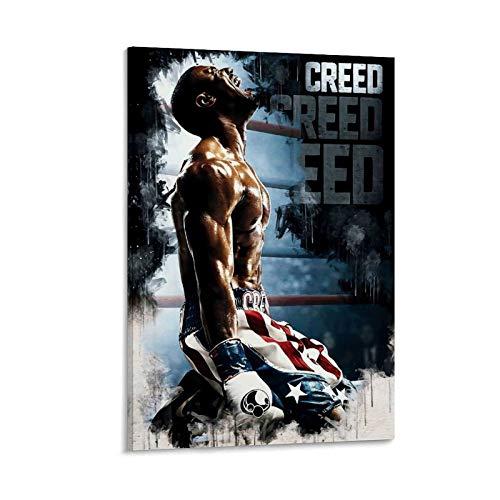 QTYB Rocky Vintage Film-Poster Boxer Adonis Creed Kunstdruck auf Leinwand und Wandkunstdruck, modernes Familienschlafzimmer, 60 x 90 cm