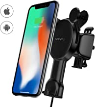 NANFU Wireless car Charger Mount 10W Compatible with Samsung Galaxy S10/S9/S9+/S8/S8+/Note 8, 7.5W Compatible with iPhone Xs Max/Xs/XR/X/ 8/8P