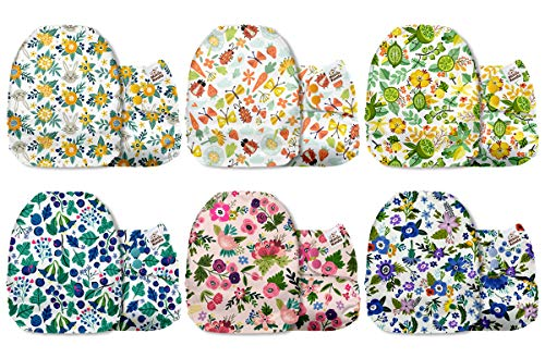 Mama Koala One Size Baby Washable Reusable Pocket Cloth Diapers, 6 Pack with 6 One Size...