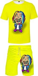Silver Basic Tekashi 69 Merch T-Shirt e Shorts Unisex Tuta Ginnastica 6ix9ine Abbigliamento per Uomo