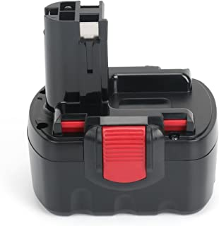 Replace Bosch 14.4V Battery for BAT040 BAT140 BAT038 BAT140 BAT041 BAT159, 32614 33614 PSR 14.4 GSR 14.4 13614-2G 3660CK, REEXBON 14.4 Volt 2.0Ah / 2000mAh Ni-Cd Replacement Battery for Bosch