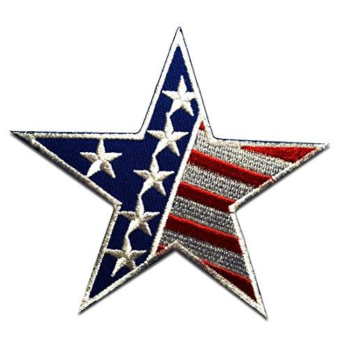 Parches - USA America bandera - blanco - 9