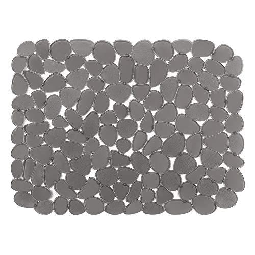Alfombrilla para fregadero Sillín para fregadero de cocina Material de PVC Cojines de diseño guijarros Fregaderos Salvaplatos Alfombrilla para secar platos para accesorios de cocina 40X30CM(#Gris,1)