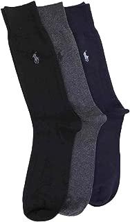 Polo Ralph Lauren Men's 3 Pack Ribbed Dress Socks (6-12 1/2)