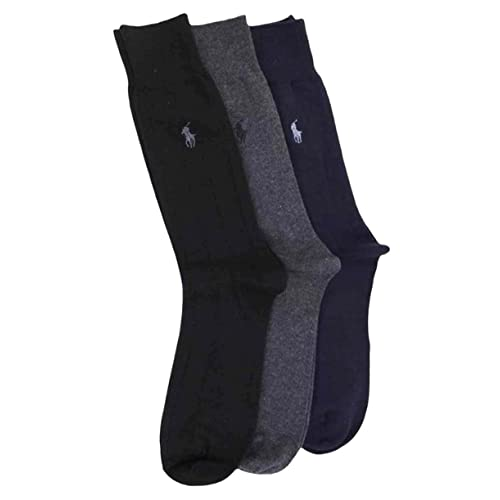ae01ff23526be Polo Ralph Lauren Men s 3 Pack Ribbed Dress Socks (6-12 ...