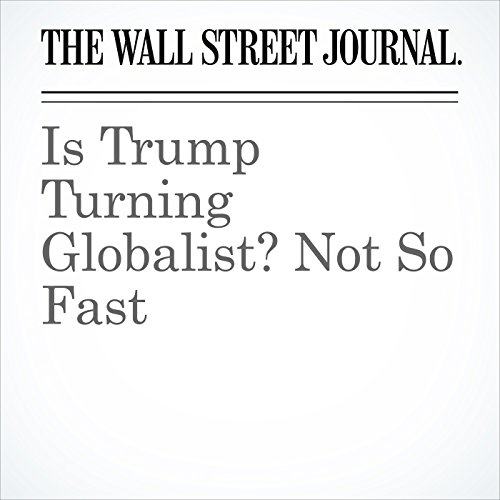 Is Trump Turning Globalist? Not So Fast audiobook cover art