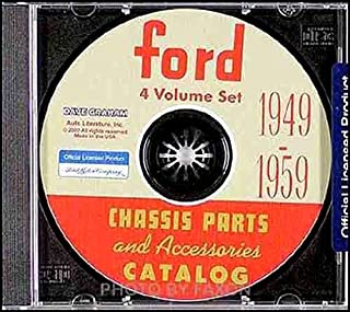 1949 1950 1951 1952 1953 1954 1955 1956 1957 1958 1959 FORD CAR CHASSIS PARTS & ACCESSORIES CATALOG - INCLUDES Maineline, Crestline, Skyliner, Victorias, Wagons