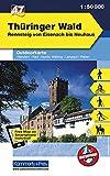 K+F Deutschland Outdoorkarte 47 Thüringer Wald 1 : 50.000: Rennsteig von Eisenach bis Neuhaus. Wanderwege, Radwanderwege, Nordic Walking: Rennsteig ... App (Kümmerly+Frey Outdoorkarten Deutschland)